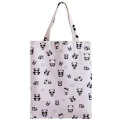 Panda Pattern Classic Tote Bag by Valentinaart