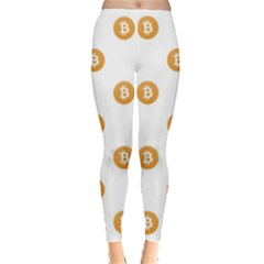 Bitcoin Logo Pattern Leggings  by dflcprints