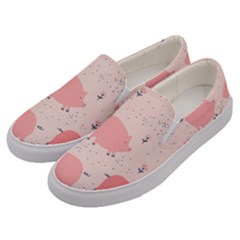 Pigs And Flowers Men s Canvas Slip Ons by allthingseveryday