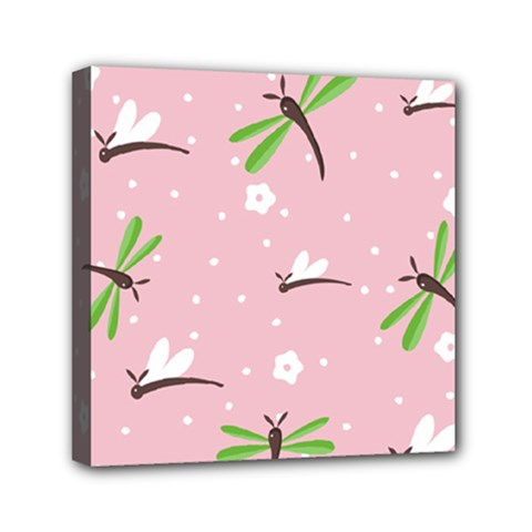 Dragonfly And White Flowers Pattern Canvas Travel Bag by allthingseveryday