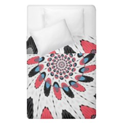 High Contrast Twirl Duvet Cover Double Side (single Size) by linceazul