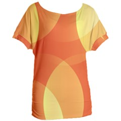 Abstract Orange Yellow Red Color Women s Oversized Tee