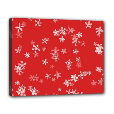 Template Winter Christmas Xmas Canvas 14  X 11  by Celenk