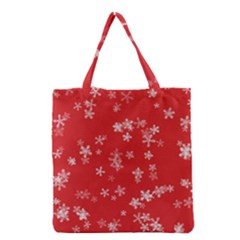Template Winter Christmas Xmas Grocery Tote Bag by Celenk