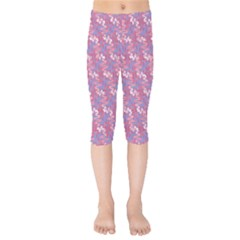 Pattern Abstract Squiggles Gliftex Kids  Capri Leggings