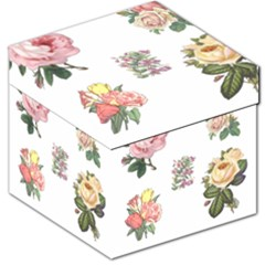 Rose Flowers Campanula Bellflower Storage Stool 12   by Celenk