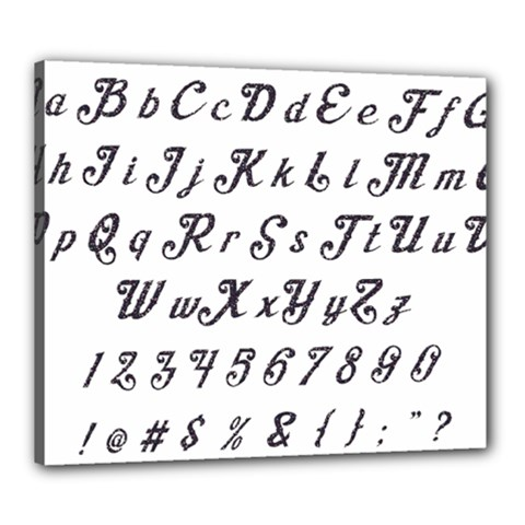 Font Lettering Alphabet Writing Canvas 24  X 20  by Celenk