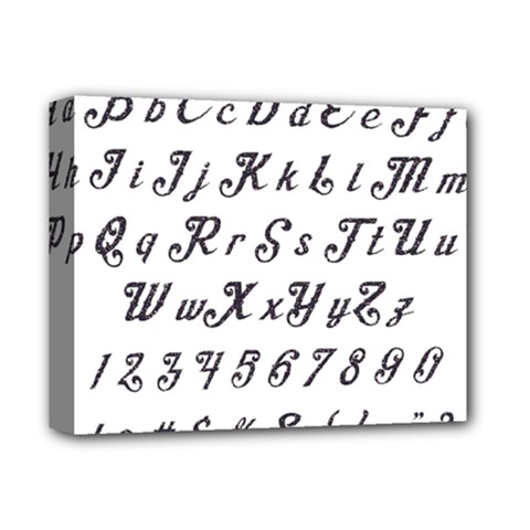 Font Lettering Alphabet Writing Deluxe Canvas 14  X 11  by Celenk