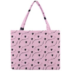 Love Hearth Pink Pattern Mini Tote Bag by Celenk