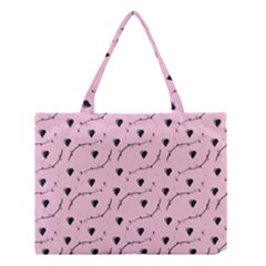 Love Hearth Pink Pattern Medium Tote Bag by Celenk