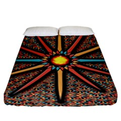 Star Fitted Sheet (king Size) by linceazul