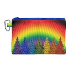 Christmas Colorful Rainbow Colors Canvas Cosmetic Bag (large) by Celenk