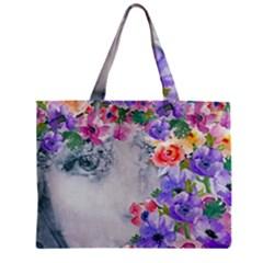 Flower Girl Zipper Mini Tote Bag by 8fugoso