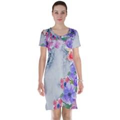 Flower Girl Short Sleeve Nightdress by 8fugoso