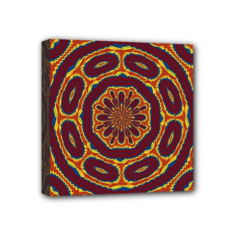 Geometric Tapestry Mini Canvas 4  X 4  by linceazul