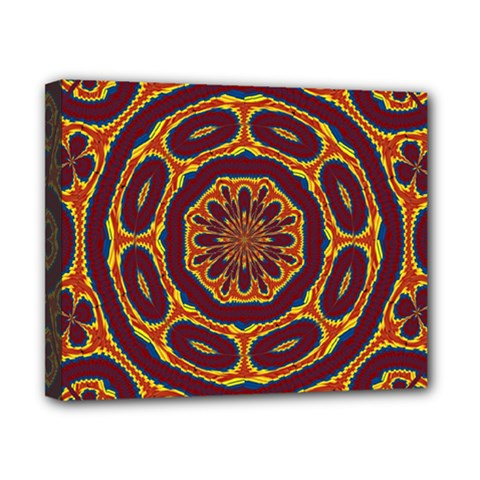 Geometric Tapestry Canvas 10  X 8  by linceazul