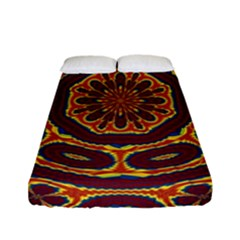 Geometric Tapestry Fitted Sheet (full/ Double Size) by linceazul