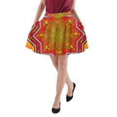 Mandala Zen Meditation Spiritual A Line Pocket Skirt by Celenk