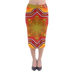Mandala Zen Meditation Spiritual Midi Pencil Skirt by Celenk