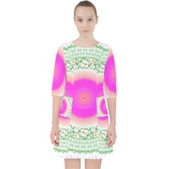 Flower Abstract Floral Pocket Dress by Celenk