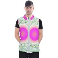 Flower Abstract Floral Men s Puffer Vest