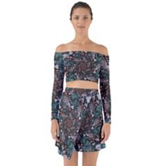 Art Artwork Fractal Digital Art Off Shoulder Top With Skirt Set