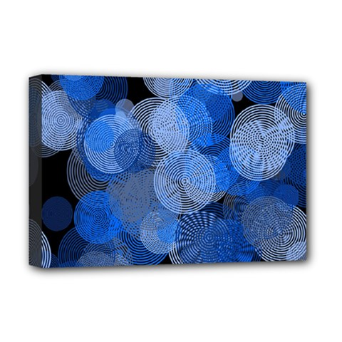 Circle Rings Abstract Optics Deluxe Canvas 18  X 12   by Celenk