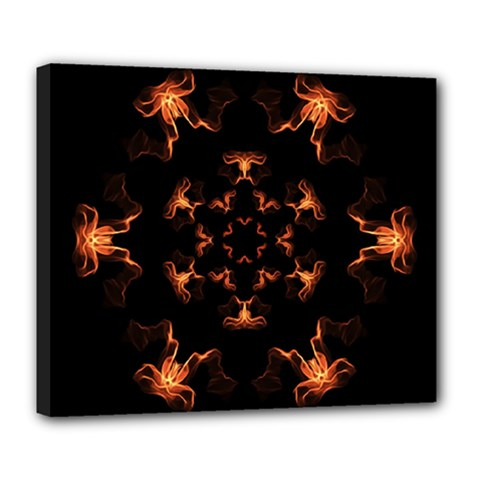 Mandala Fire Mandala Flames Design Deluxe Canvas 24  X 20   by Celenk