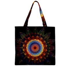 Colorful Prismatic Chromatic Zipper Grocery Tote Bag by Celenk