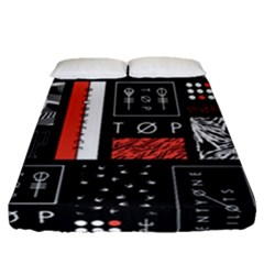 Twenty One Pilots Poster Fitted Sheet (queen Size) by Onesevenart