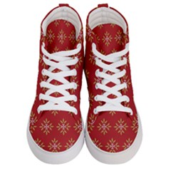 Pattern Background Holiday Men s Hi Top Skate Sneakers