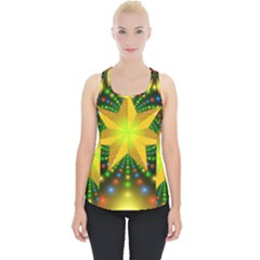 Christmas Star Fractal Symmetry Piece Up Tank Top