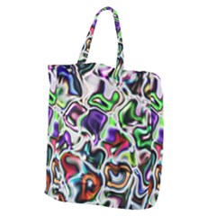 Background Texture Pattern Giant Grocery Zipper Tote