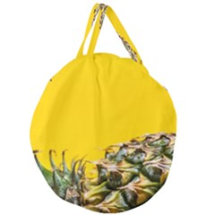 Pineapple Raw Sweet Tropical Food Giant Round Zipper Tote by Celenk
