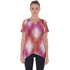 Background Texture Pattern 3d Cut Out Side Drop Tee