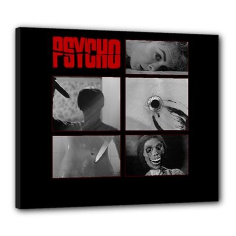Psycho  Canvas 24  X 20  by Valentinaart