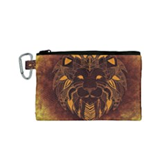 Lion Wild Animal Abstract Canvas Cosmetic Bag (small)