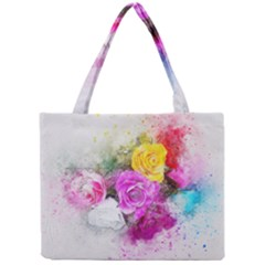 Flowers Bouquet Art Abstract Mini Tote Bag by Celenk