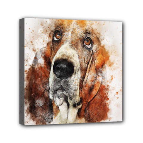 Dog Basset Pet Art Abstract Canvas Travel Bag by Celenk