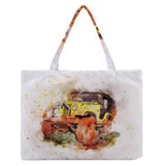 Car Old Car Fart Abstract Zipper Medium Tote Bag by Celenk