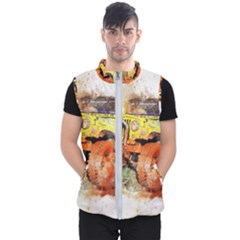Car Old Car Fart Abstract Men s Puffer Vest