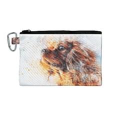 Dog Animal Pet Art Abstract Canvas Cosmetic Bag (medium) by Celenk