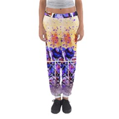 Fruit Plums Art Abstract Nature Women s Jogger Sweatpants by Celenk