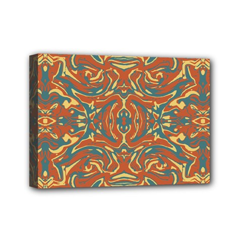 Multicolored Abstract Ornate Pattern Mini Canvas 7  X 5  by dflcprints