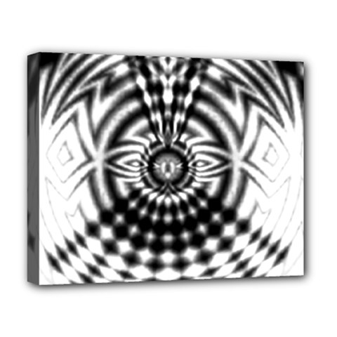 Ornaments Pattern Black White Deluxe Canvas 20  X 16   by Cveti