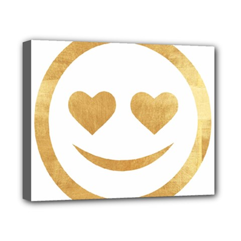 Gold Smiley Face Canvas 10  X 8  by 8fugoso