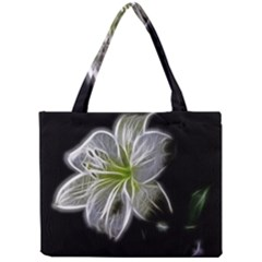 White Lily Flower Nature Beauty Mini Tote Bag by Celenk
