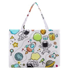 Sketch Set Cute Collection Child Zipper Medium Tote Bag by Celenk