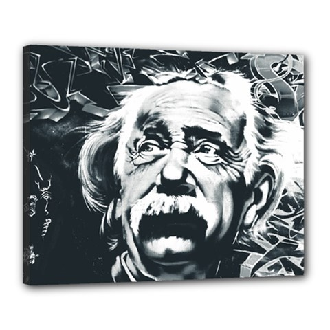 Einstein Albert Einstein Street Art Canvas 20  X 16  by Celenk