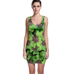 Luck Klee Lucky Clover Vierblattrig Bodycon Dress by Celenk